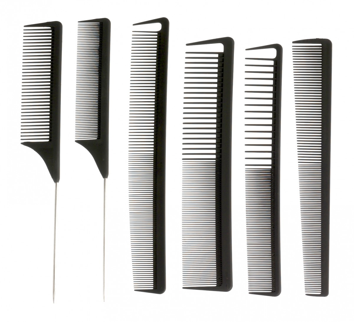 Set of 6 professional combs